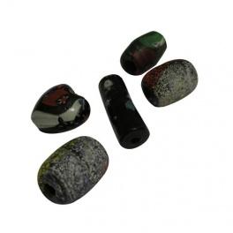 Perles pâte de verre noire